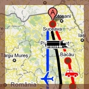 Villa Alice Suceava map positioning